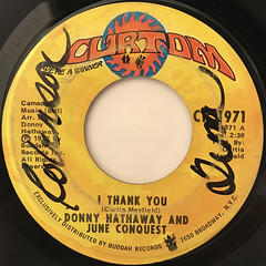 DONNY HATHAWAY AND JUNE CONQUEST:I THANK YOU(LABEL SIDE-A)