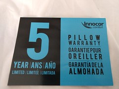 Innocor Comfort by Serta Gel Memory Foam Side Sleeper Pillow 5 Year Warranty