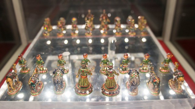 King Farouk of Egypt's Chess set at Royal Jewelry Museum شطرنج الملك فاروق