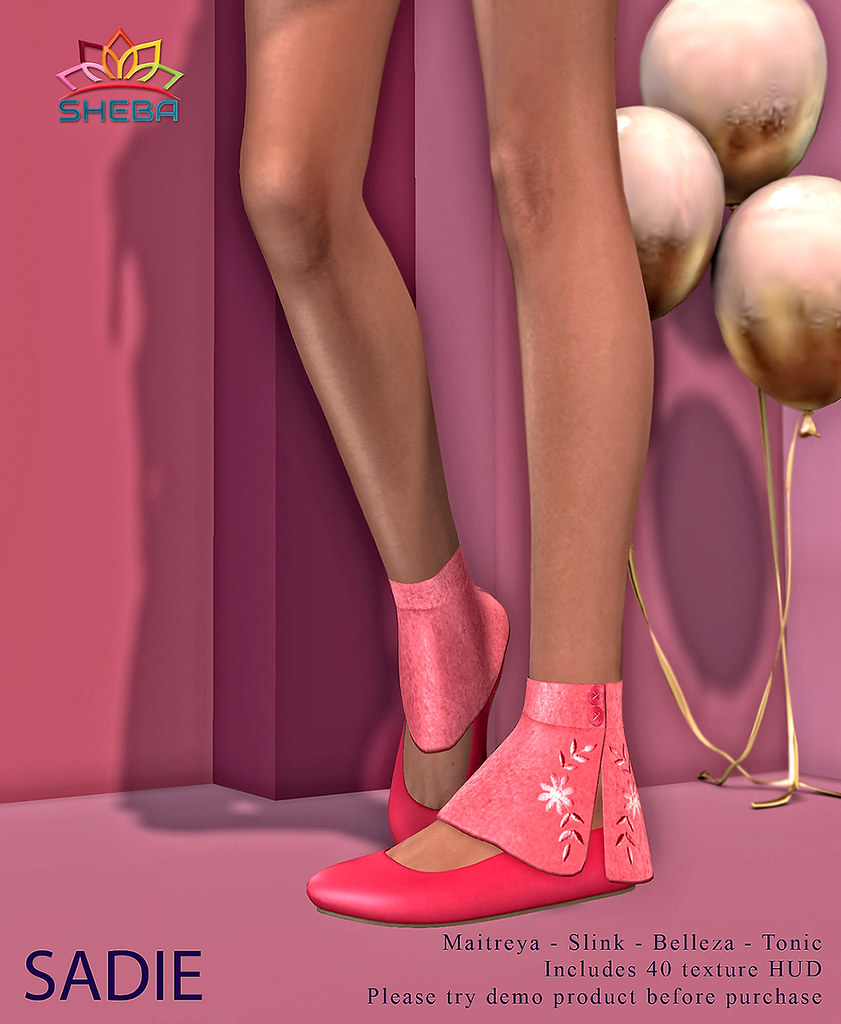 [Sheba] Sadie Flats with anklet warmer AD