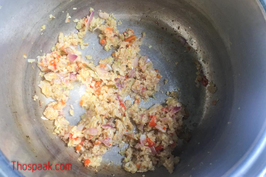 แกงผักกาดจ้อน (ผักกวางตุ้ง)