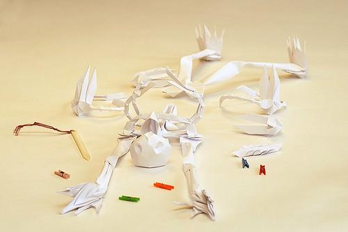 Origami Skeleton (Yuri & Katrin Shumakov)