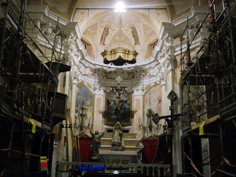 church under renovation