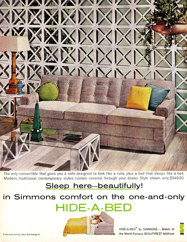 Simmons Hide-A-Bed 1960