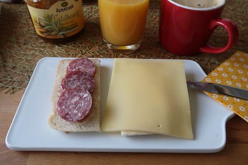 Stracke und Bio Bergkäse auf American Sandwich