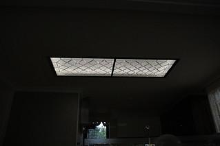 umělecké sklo svítidlo