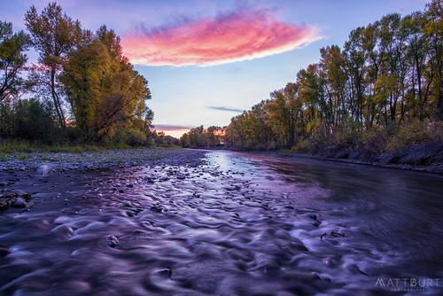 mccabeswetland gunnisonriver reflection sunset