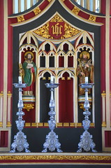 reredos: St Peter and St Edmund