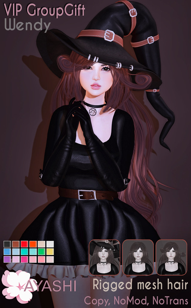 [^.^Ayashi^.^] Wendy hair October VIP GroupGift - TeleportHub.com Live!