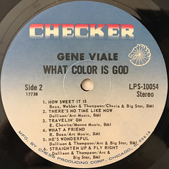 GENE VIALE:WHAT COLOR IS GOD?(LABEL SIDE-B)