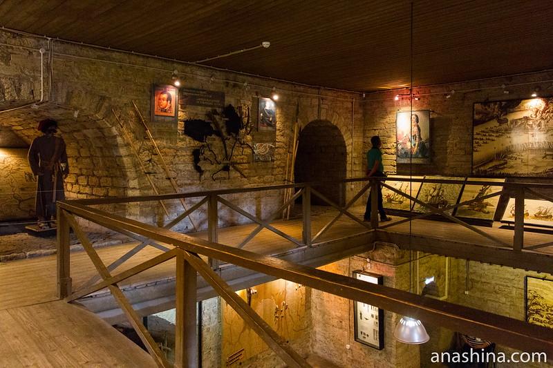 Экспозиция музея в Воротной башне, Старая Ладога