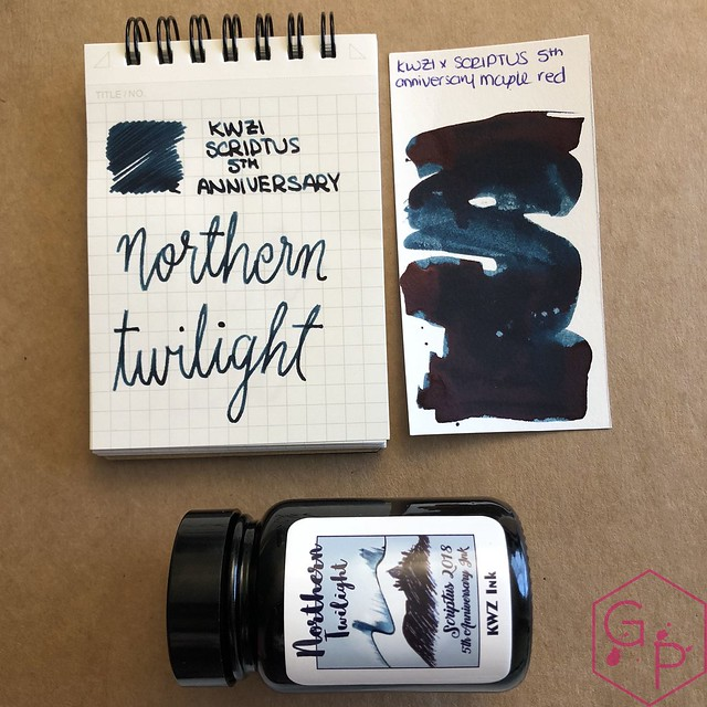 Scriptus Toronto Writing Show 2018 Inks - Maple Red & Northern Twilight! 45