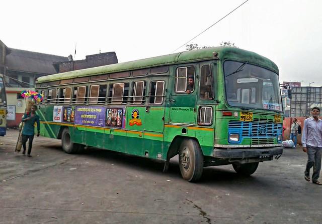 MSRTC :- Semi Luxury Bus. Route :- Surat - Ahmadnager..