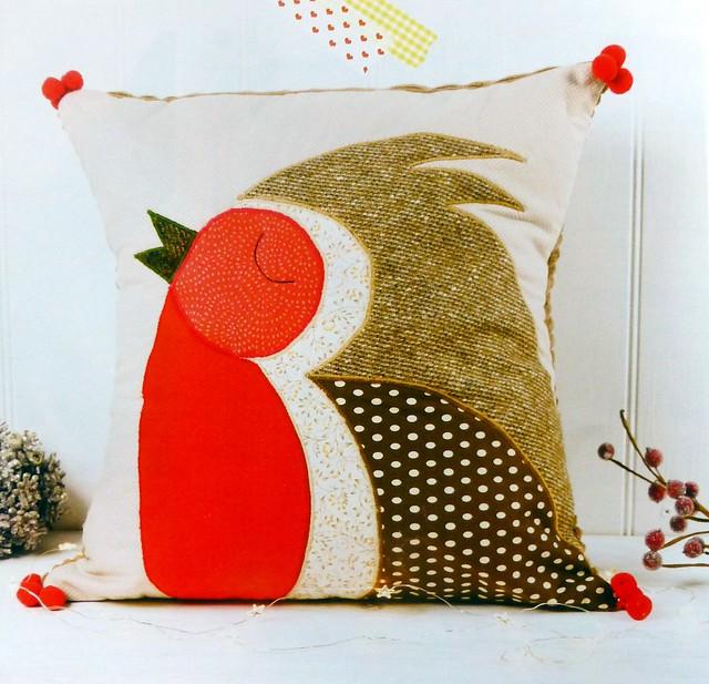 Christmas Robin Cushion pattern