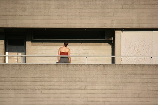 Woman and concrete