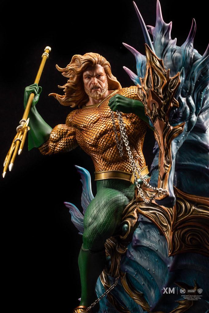海馬快要比主人帥了啦XD~ XM Studios Premium Collectibles 系列 DC Rebirth【水行俠】Aquaman 1/6 比例全身雕像作品