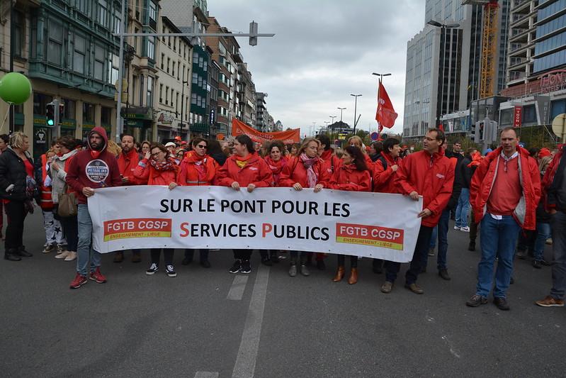 Bruxelles le 28/09/2018 manifestation contre le detricotage de nos acquis ! et de nos statut !