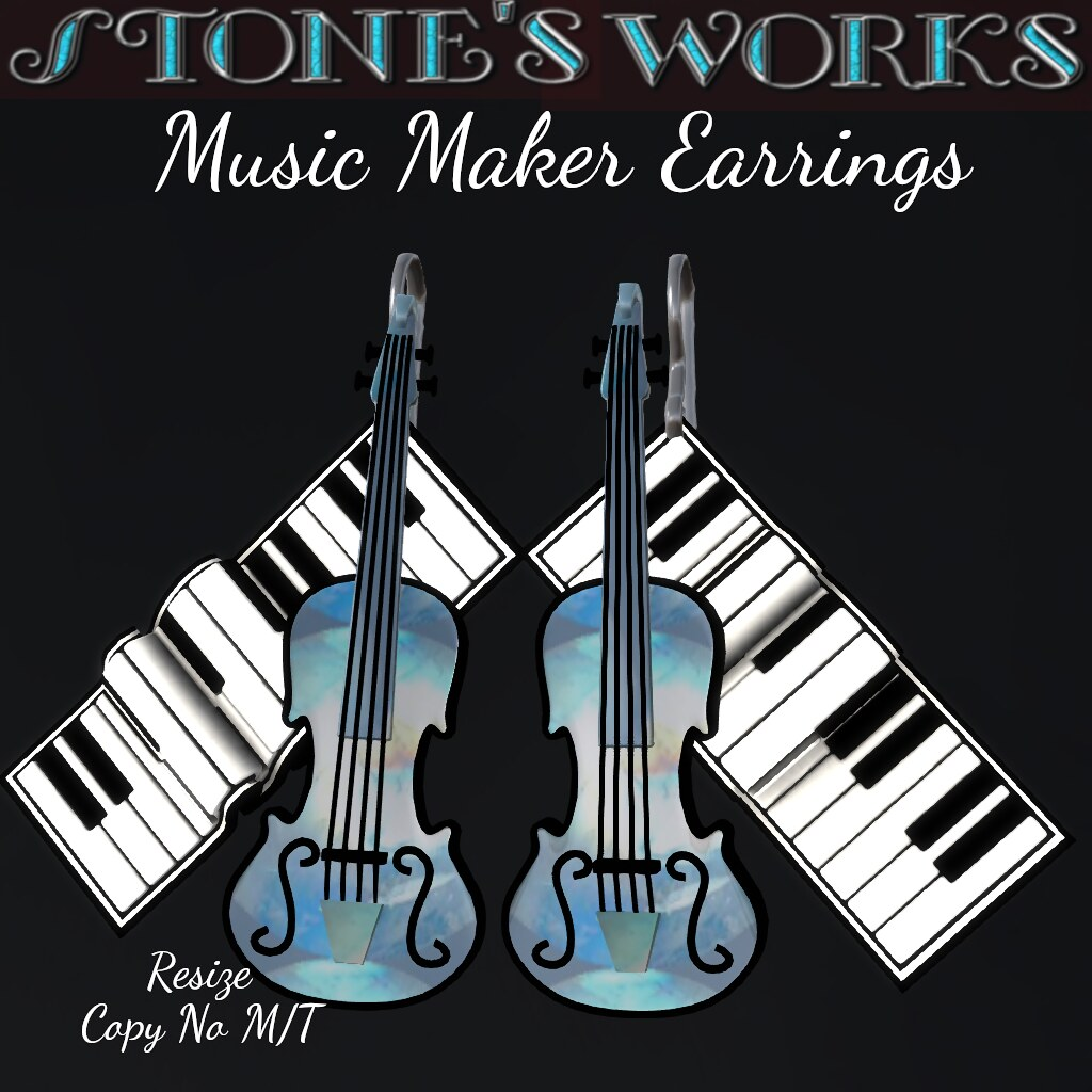 Music Maker Earring Set Stone's Works - TeleportHub.com Live!