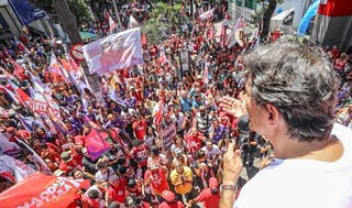 Fernando Haddad speaks to supporters - Créditos: Lula Facebook page