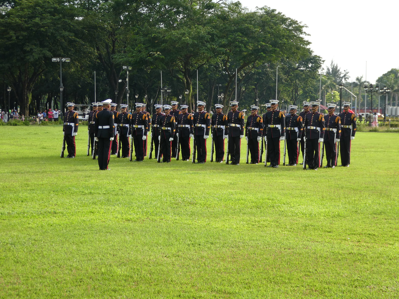 Changing of the guard ceremony in Rizal Park, Manila
