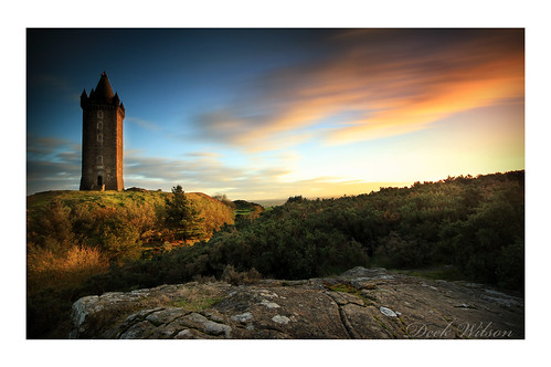 scrabotower sunset newtownards landmark scrabohill landscape northernireland longexposure sky