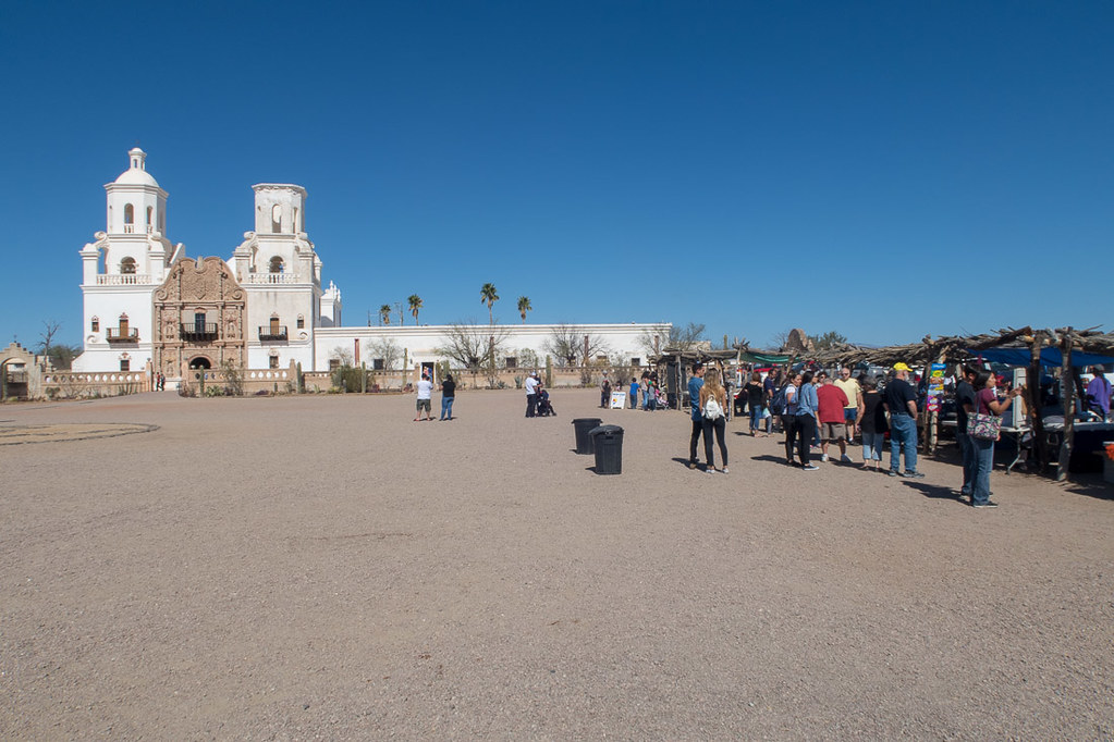 Vendors at Mission San Xavier