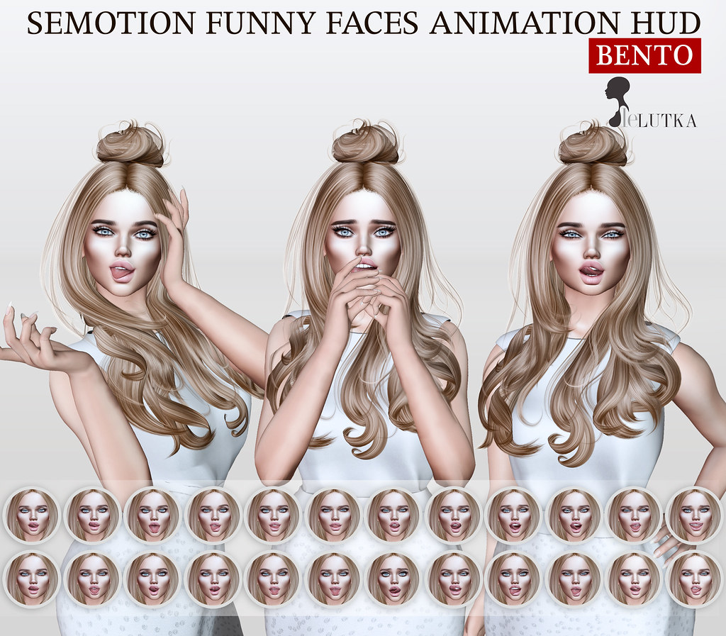 SEmotion Funny Faces AO HUD Gacha for LeLutka - TeleportHub.com Live!