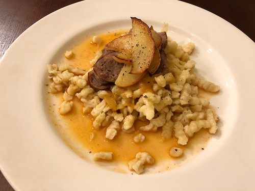 Instant Pot Honeycrisp Apples & Spätzle with Sausage Recipe