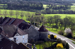 vue depuis le clocher d'Orgelet