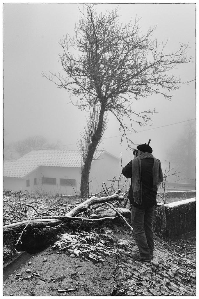 Fotógrafos em dia de nevada - Barroso (1)