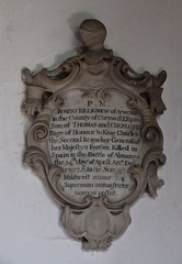 Page of Honour to King Charles the Second, killed in Spain in the Battle of Almanza (1707)