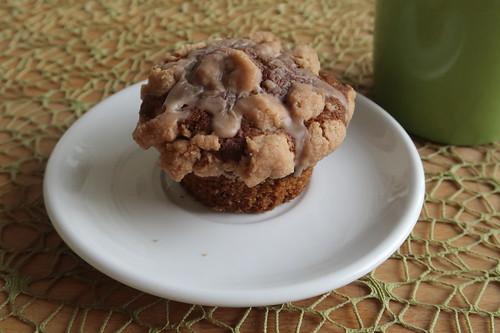 Letzter Apfel-Kürbis-Muffin zum Frühstückskaffee
