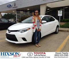 #HappyBirthday to Janica from Christopher Cosby at Hixson Toyota of Leesville!