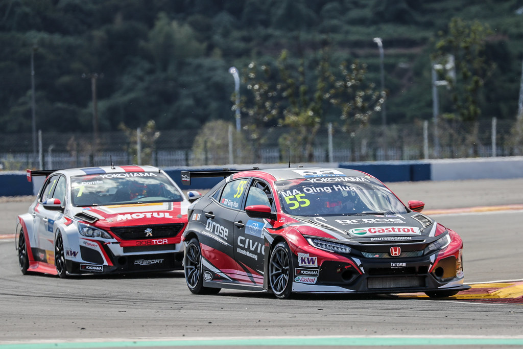 55 QING HUA Ma (chn), Honda Civic TCR team Boutsen Ginion Racing, action during the 2018 FIA WTCR World Touring Car cup of China, at Ningbo  from September 28 to 30 - Photo Marc de Mattia / DPPI