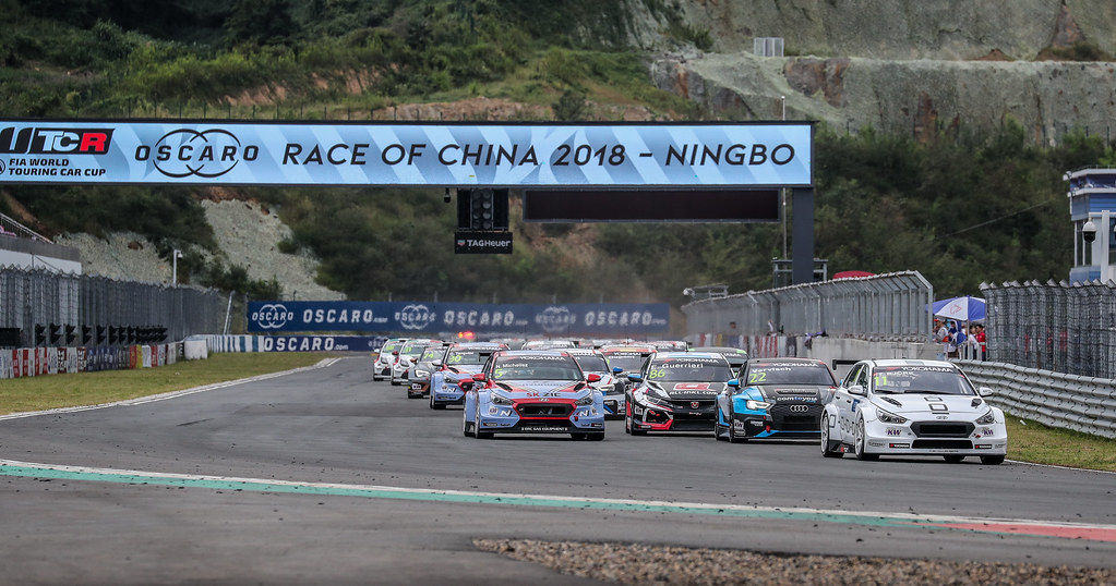 depart start Race 1, during the 2018 FIA WTCR World Touring Car cup of China, at Ningbo  from September 28 to 30 - Photo Marc de Mattia / DPPI