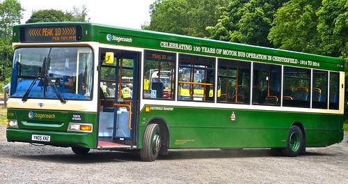 YN05 XNZ ' Yorkshire Traction' No. 34720, 'Chesterfield Transport'. Dennis Dart SLF / Plaxton Pointer 2 /1 on Dennis Basford's railsroadsrunways.blogspot.co.uk'