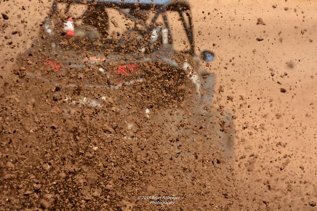 Mud was flying bigtime