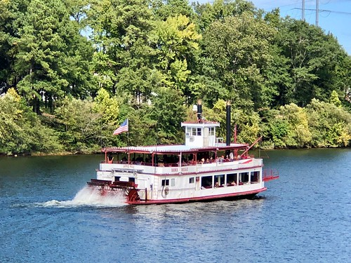 Bama Belle mid-tour, Warrior River, Tuscaloosa, Alabama.