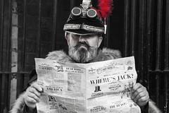 Kaiser Steam Punk reads The News.