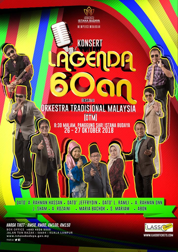 Poster Konsert Lagenda 60an Bersama Orkestra Tradisional Malaysia