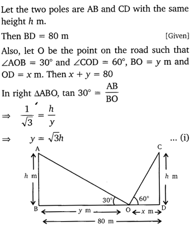 NCERT Solutions for Class 10 Maths Chapter 9 Some Applications of Trigonometry 13