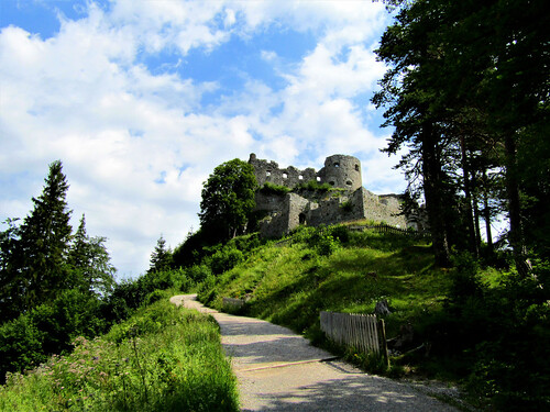entrance to Ehrenberg Castle in Reutte