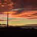 Sunset over Emley Moor