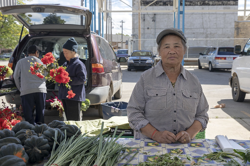 Hmong Farmer at Fondy Market
