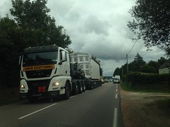 Man TGX 41-640 tracteur routier pour convoi de combustibles irradiés - Photo of Quettetot