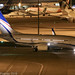 HL8290 - 2013 build Boeing B737-7GE BBJ, night time arrival at Manchester