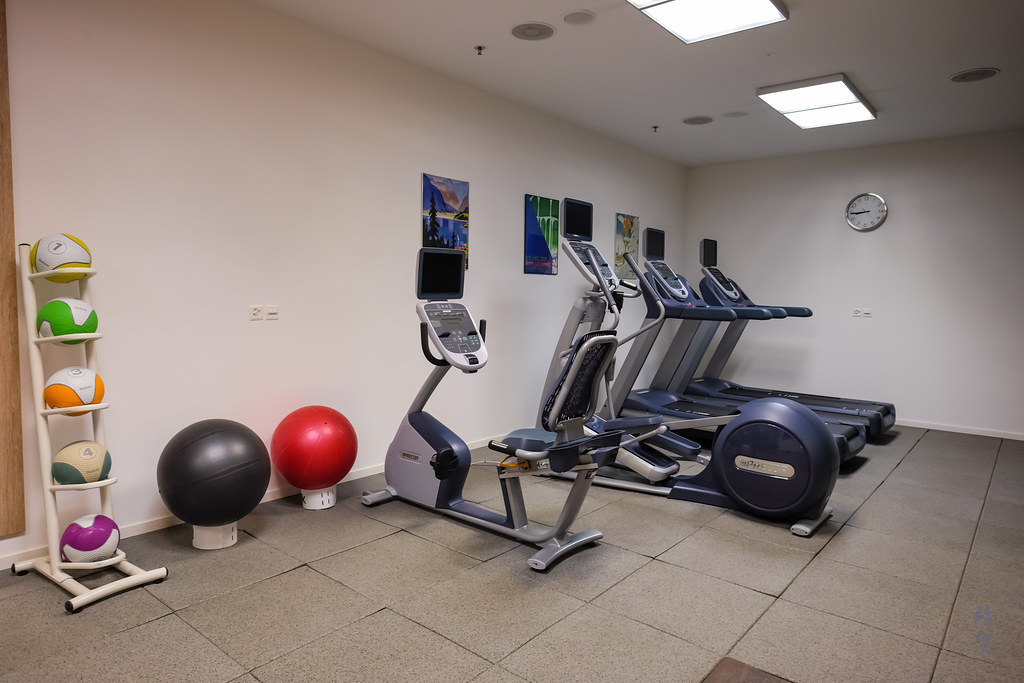 Treadmills and gym balls
