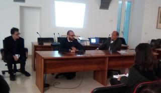 Da sinistra, l'architetto Sportelli, il dirigente Aldo Patruno e il dott. Giangrande