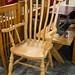 Hardwood tall chair E85