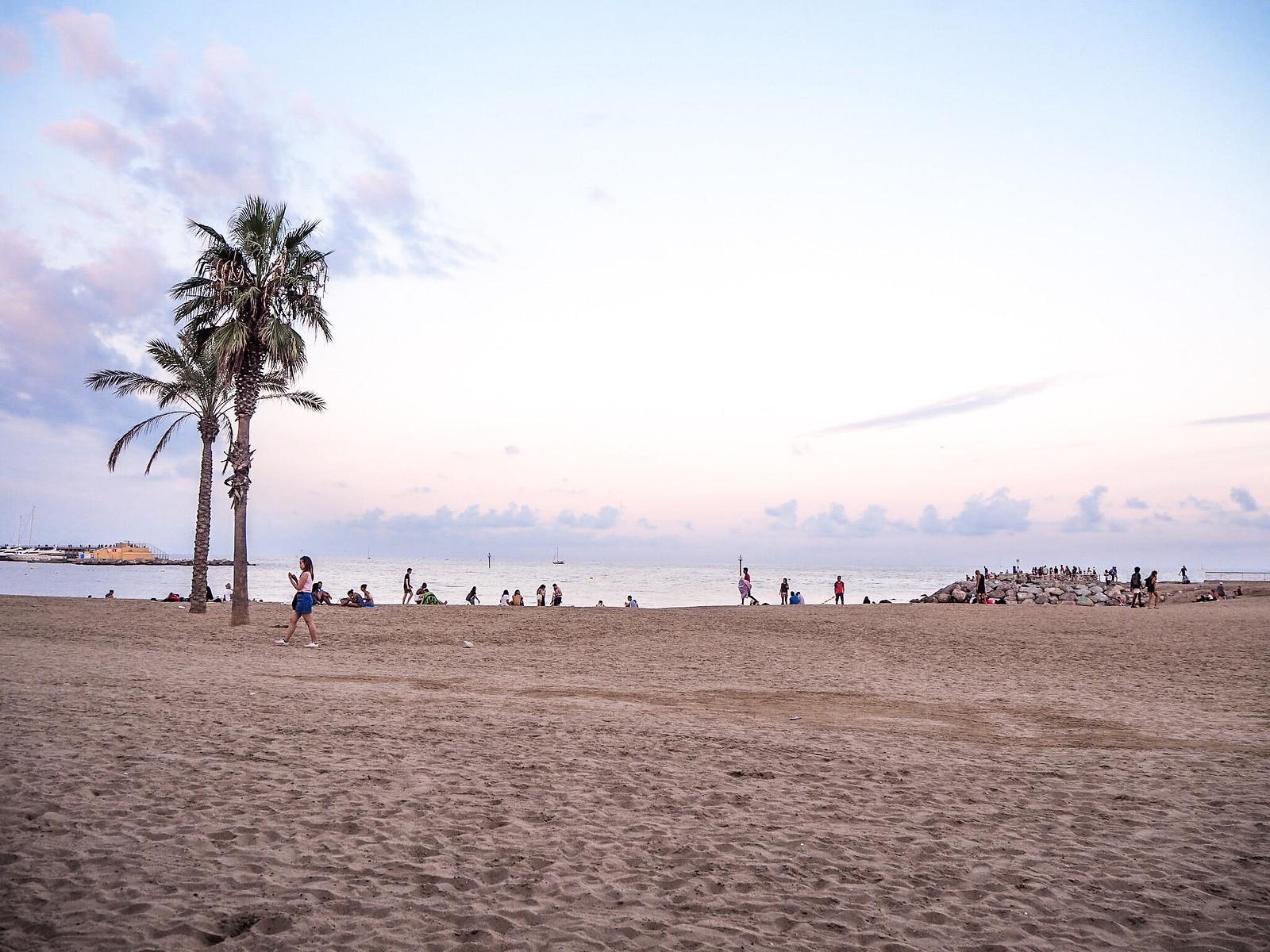 Illallisnäkymät Barcelona